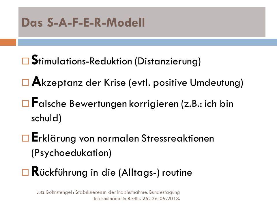 Stimulations-Reduktion (Distanzierung)
