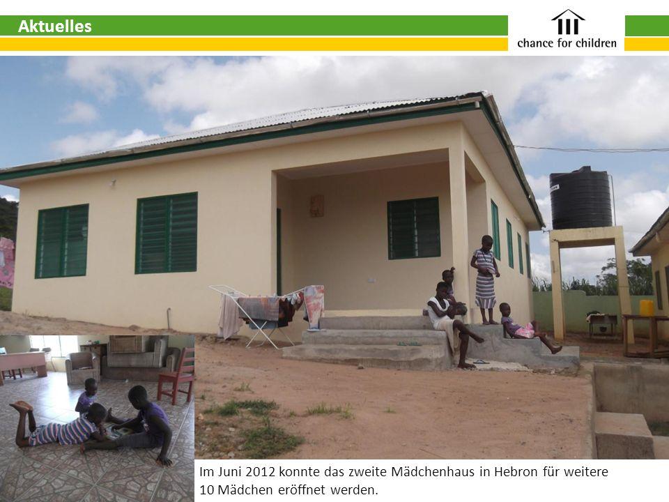 Aktuelles Im Juni 2012 konnte das zweite Mädchenhaus in Hebron für weitere.