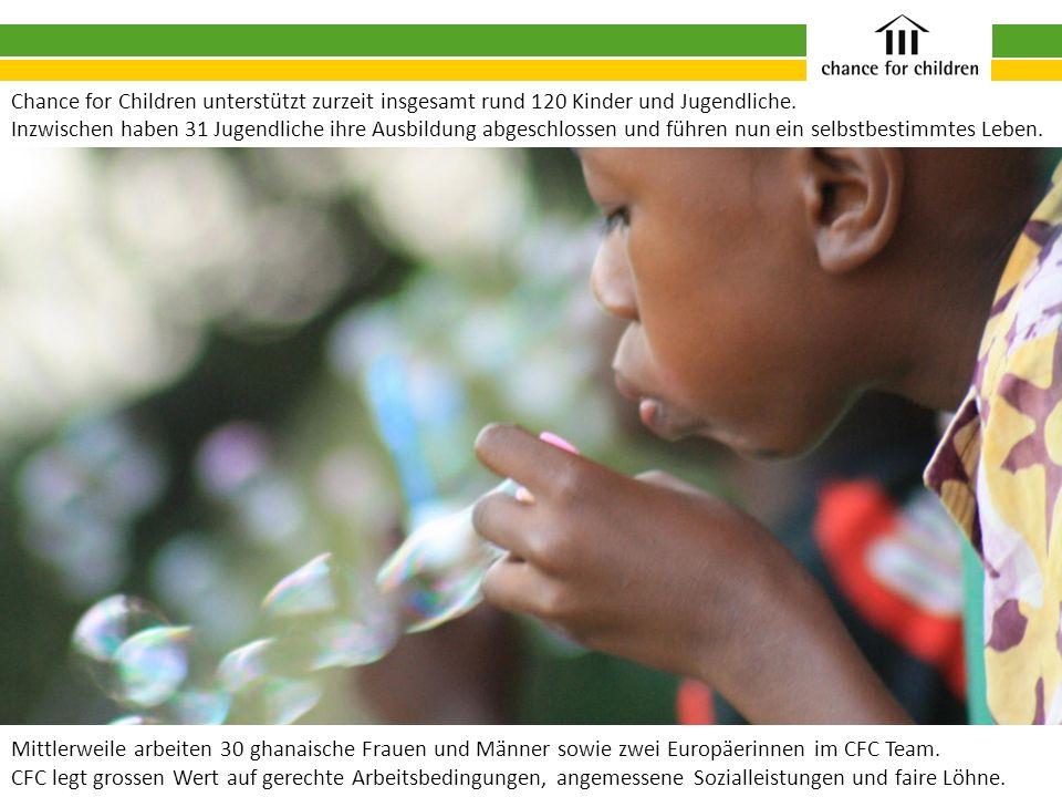 Chance for Children unterstützt zurzeit insgesamt rund 120 Kinder und Jugendliche.