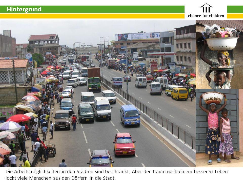 HintergrundDie Arbeitsmöglichkeiten in den Städten sind beschränkt. Aber der Traum nach einem besseren Leben.