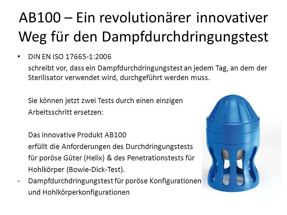 AB100 – Ein revolutionärer innovativer Weg für den Dampfdurchdringungstest