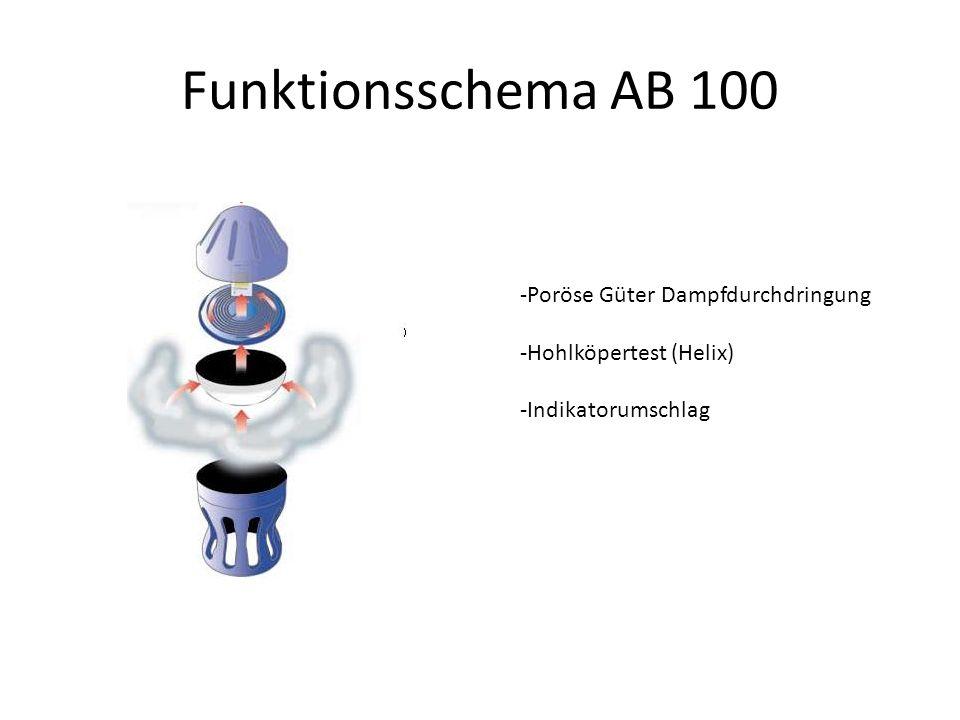 Funktionsschema AB 100 -Poröse Güter Dampfdurchdringung