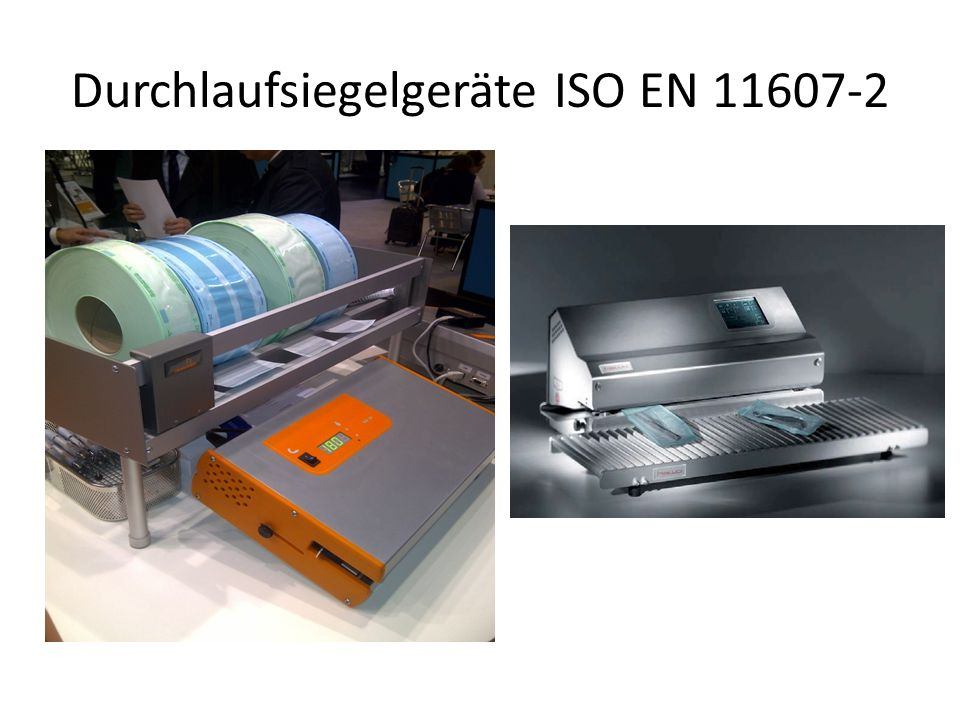 Durchlaufsiegelgeräte ISO EN 11607-2