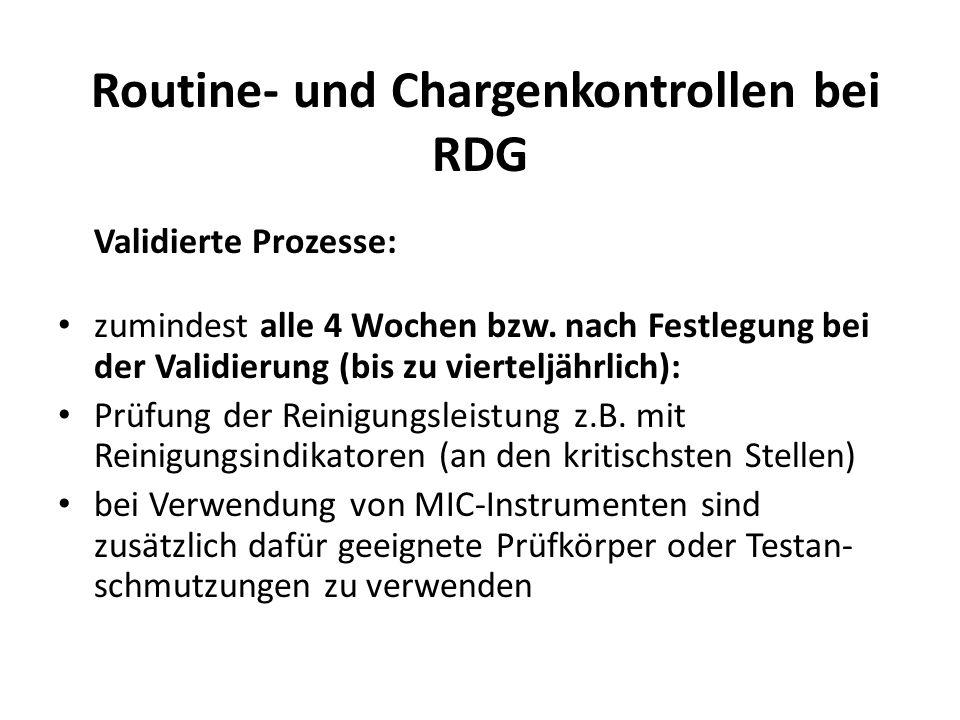 Routine- und Chargenkontrollen bei RDG