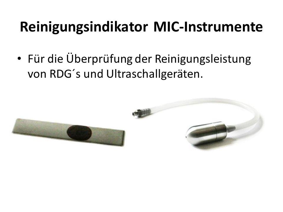 Reinigungsindikator MIC-Instrumente