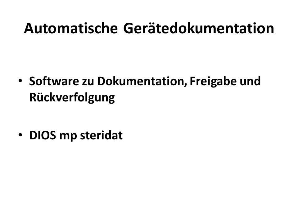 Automatische Gerätedokumentation