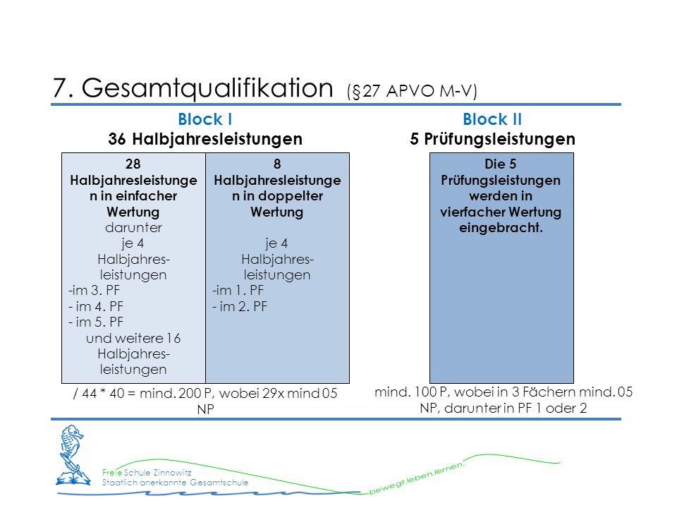 7. Gesamtqualifikation (§27 APVO M-V)