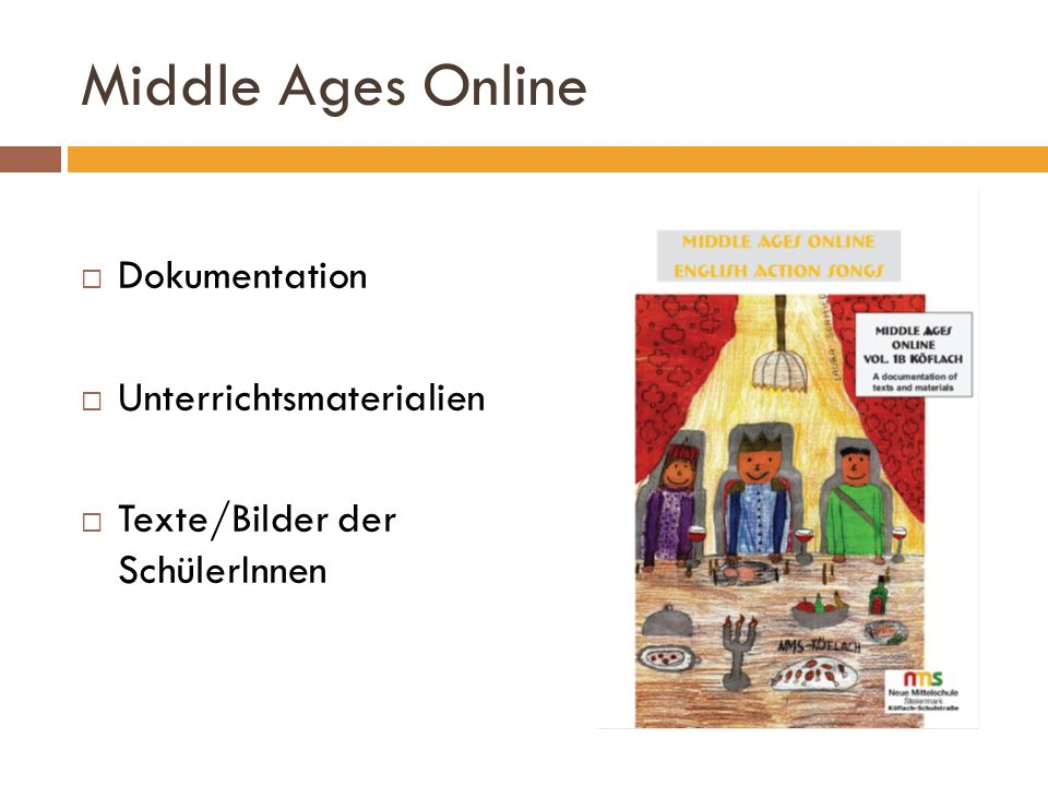 Middle Ages Online Dokumentation Unterrichtsmaterialien