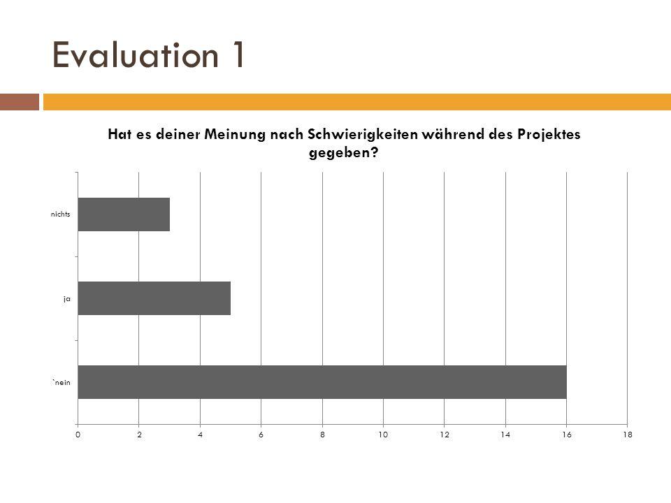 Evaluation 1