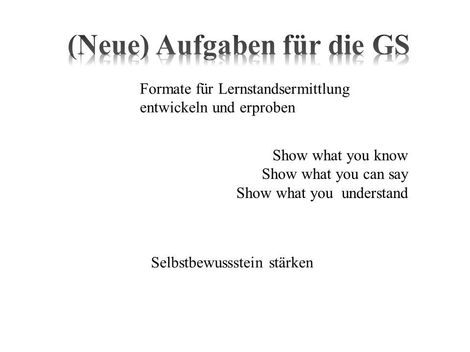 (Neue) Aufgaben für die GS