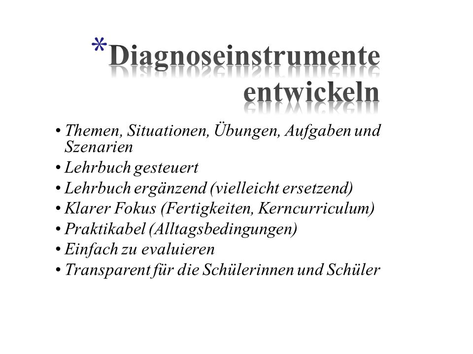 Diagnoseinstrumente entwickeln