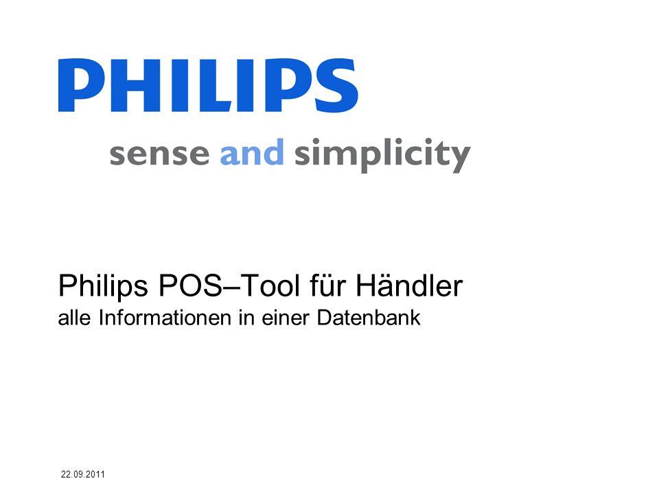 Philips POS–Tool für Händler alle Informationen in einer Datenbank
