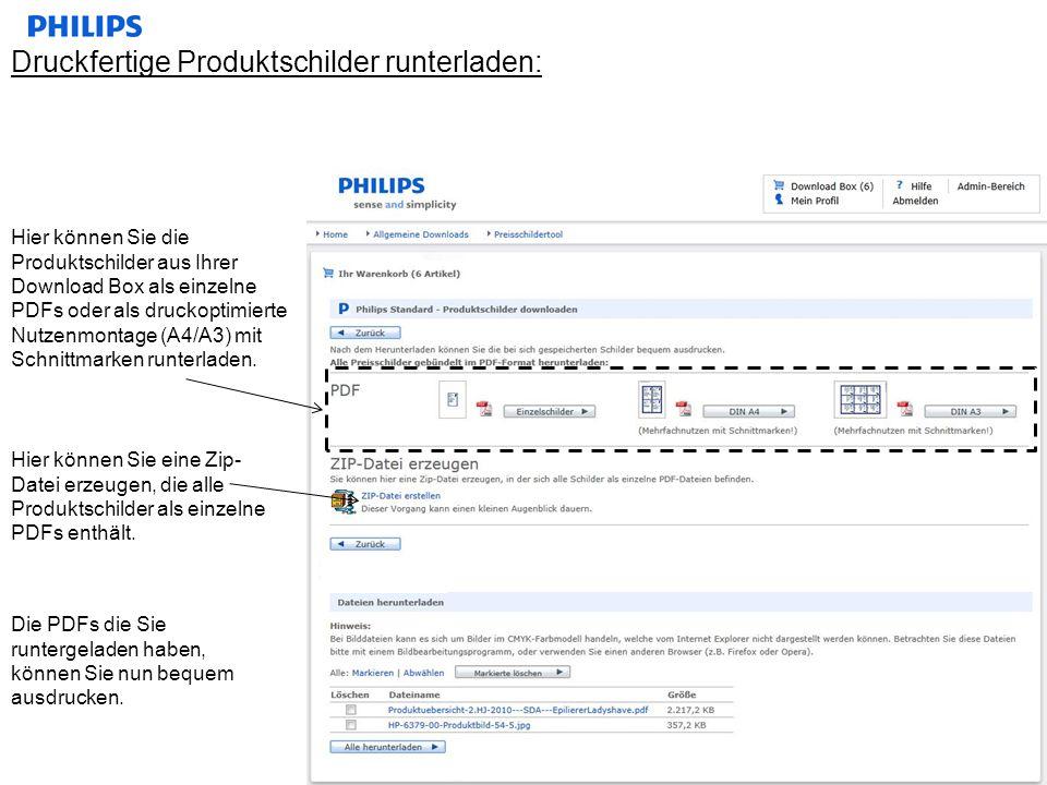 Druckfertige Produktschilder runterladen: