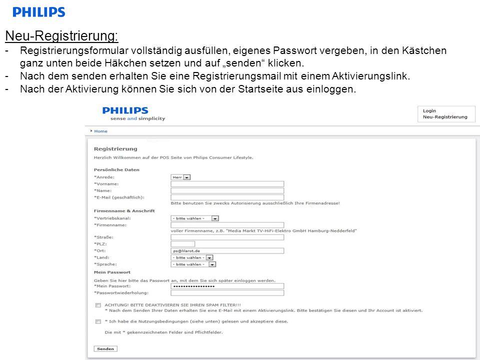Neu-Registrierung: