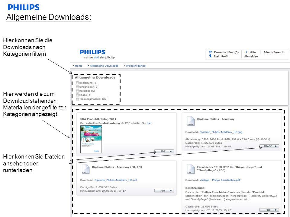 Allgemeine Downloads: