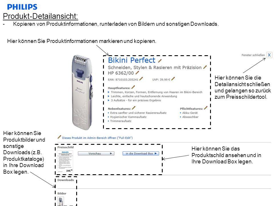 Produkt-Detailansicht: