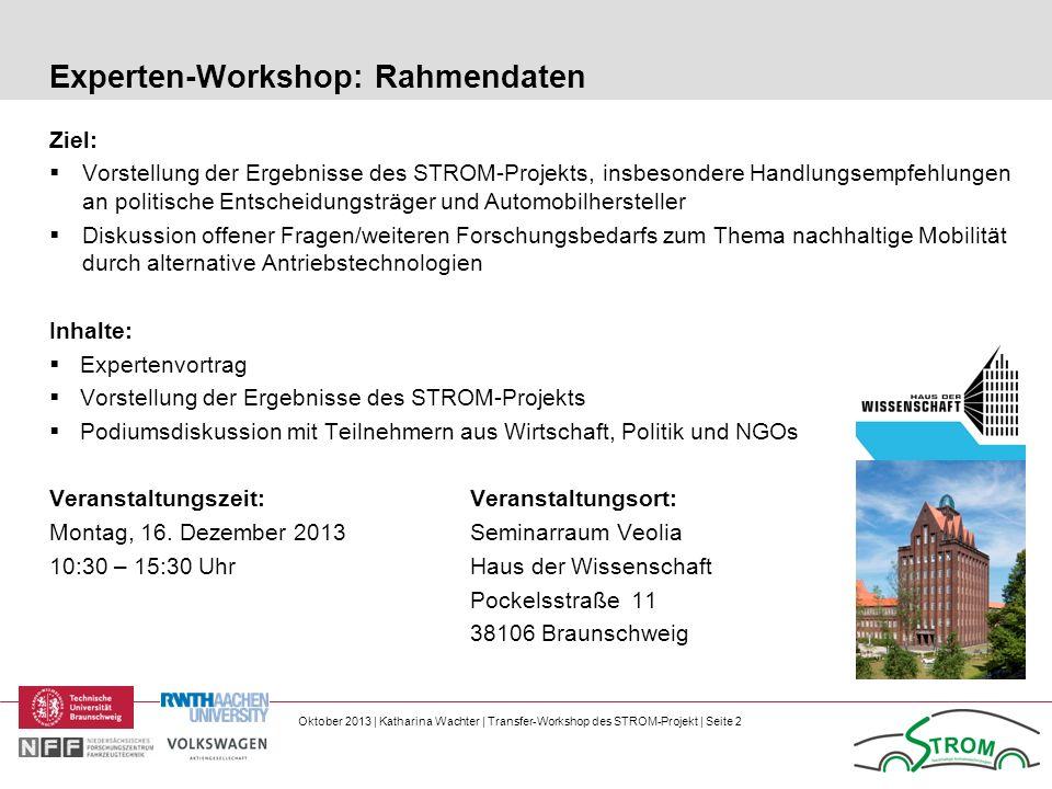 Experten-Workshop: Rahmendaten
