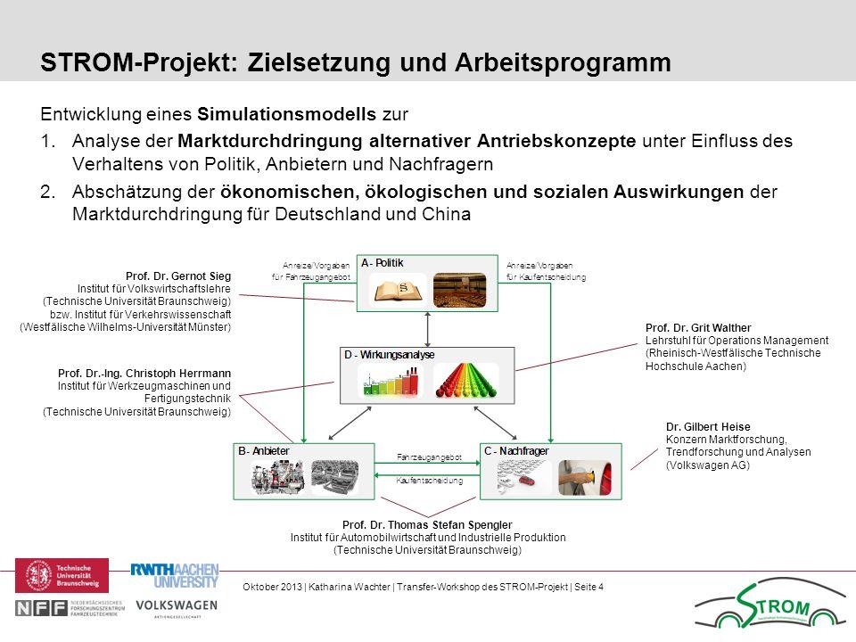 STROM-Projekt: Zielsetzung und Arbeitsprogramm