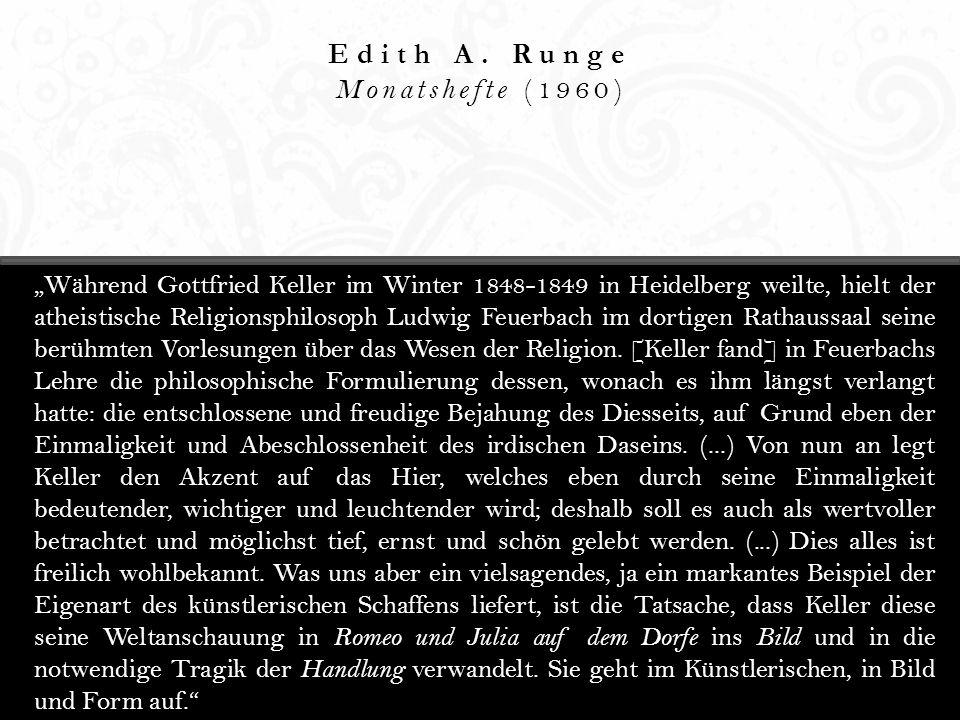 Edith A. Runge Monatshefte (1960)