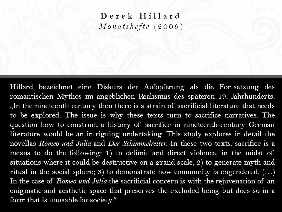 Derek Hillard Monatshefte (2009)