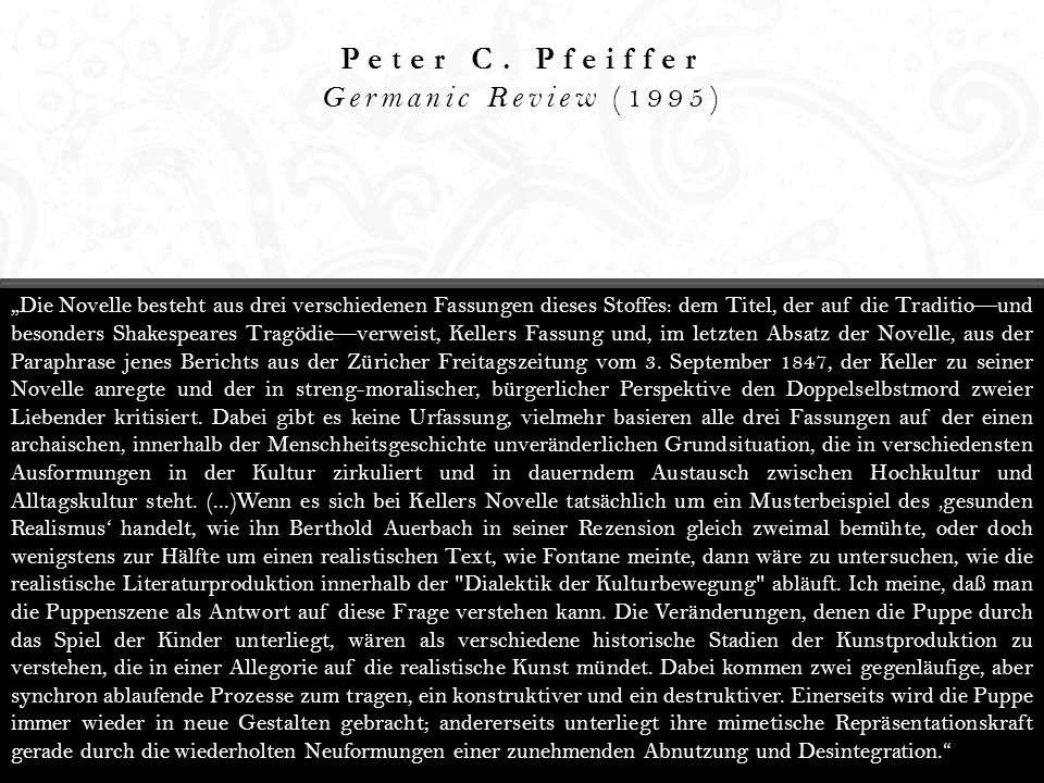 Peter C. Pfeiffer Germanic Review (1995)