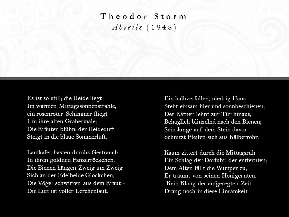 Theodor Storm Abseits (1848)