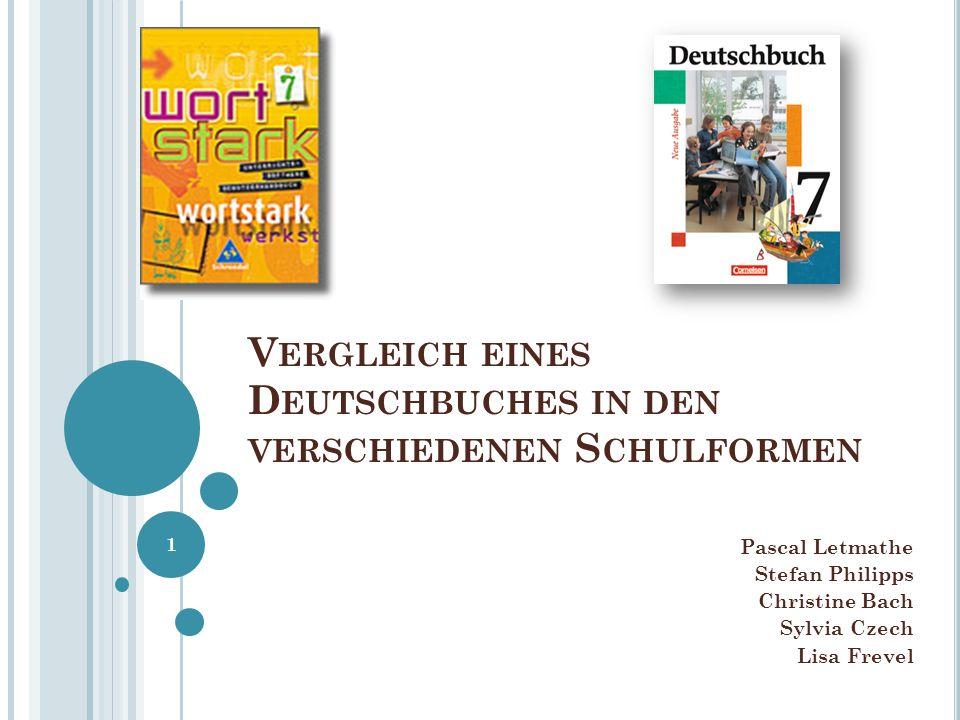 Vergleich eines Deutschbuches in den verschiedenen Schulformen