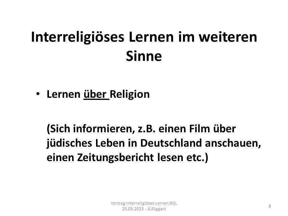 Interreligiöses Lernen im weiteren Sinne