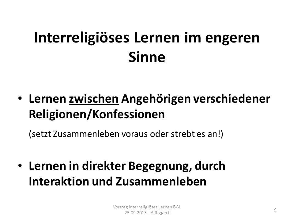 Interreligiöses Lernen im engeren Sinne