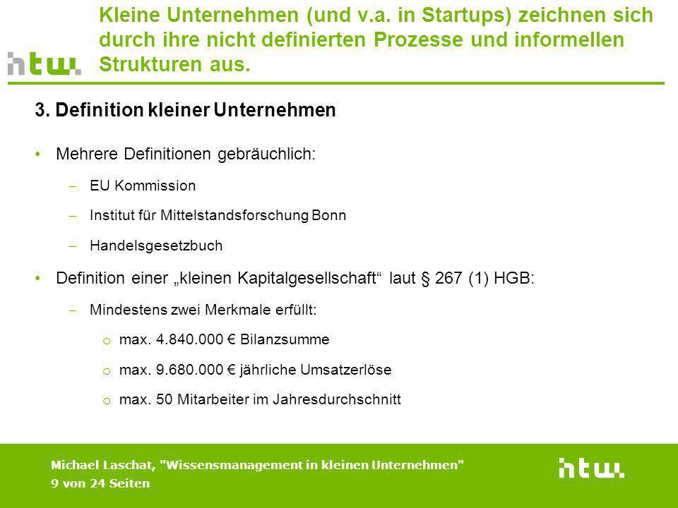 Kleine Unternehmen (und v. a