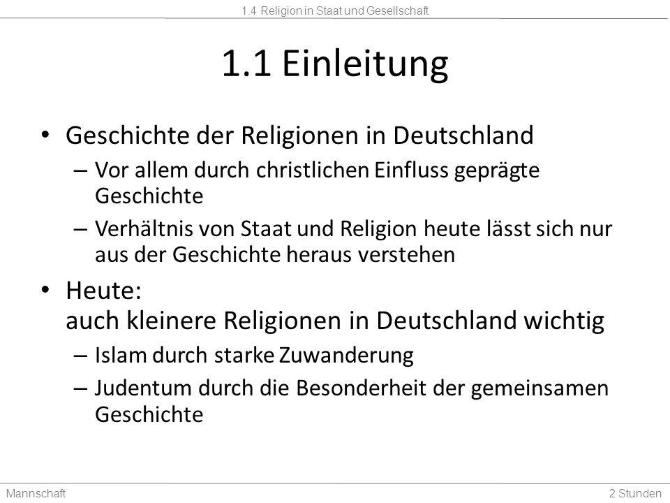 1.1 Einleitung Geschichte der Religionen in Deutschland