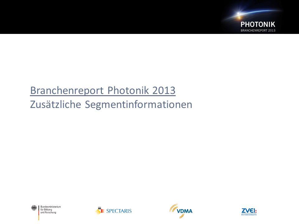 Branchenreport Photonik 2013