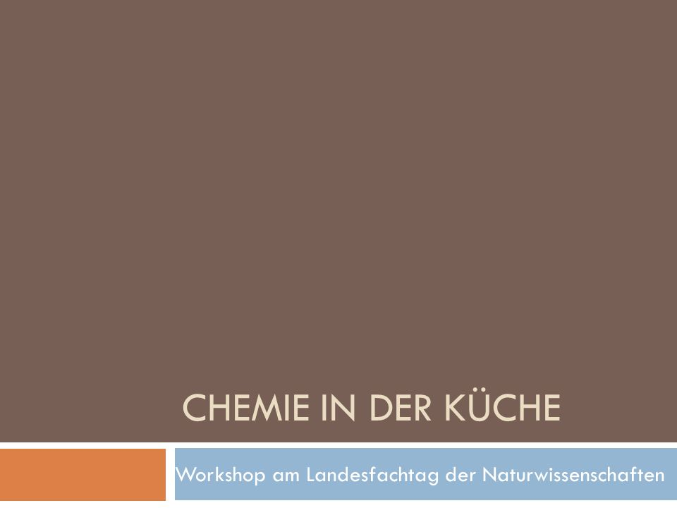 Workshop am Landesfachtag der Naturwissenschaften