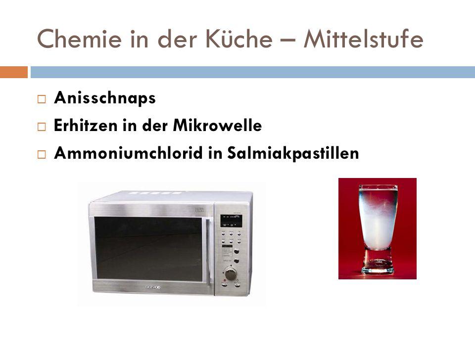 Chemie in der Küche – Mittelstufe