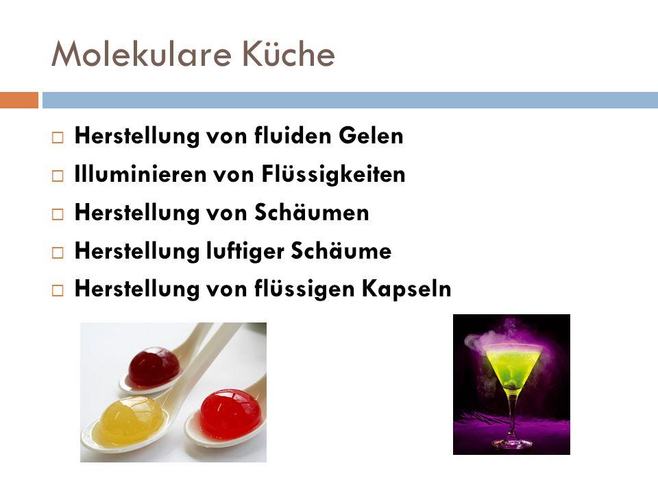 Molekulare Küche Herstellung von fluiden Gelen