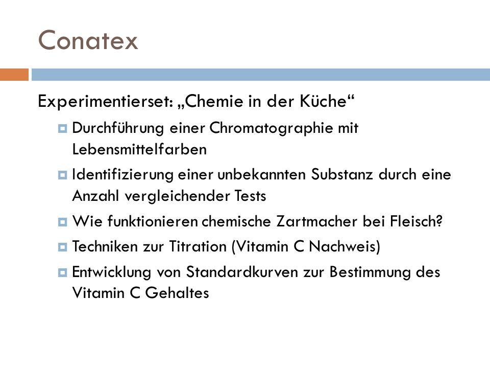"""Conatex Experimentierset: """"Chemie in der Küche"""