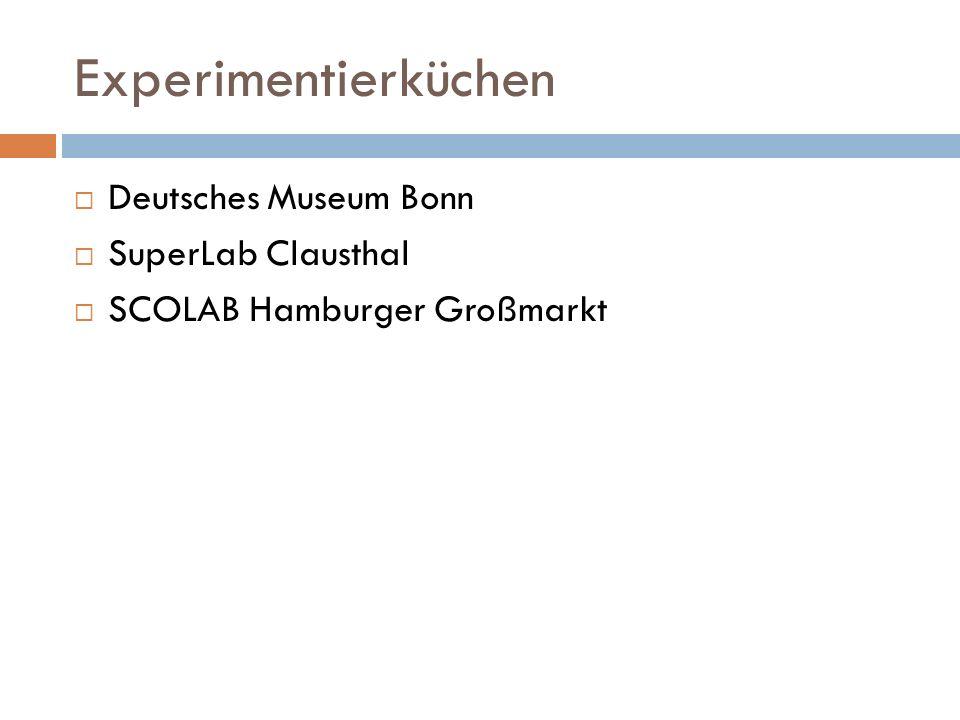 Experimentierküchen Deutsches Museum Bonn SuperLab Clausthal