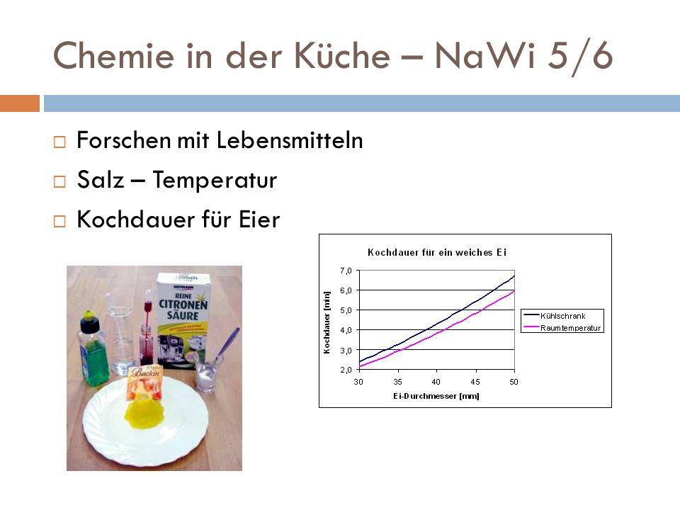Chemie in der Küche – NaWi 5/6