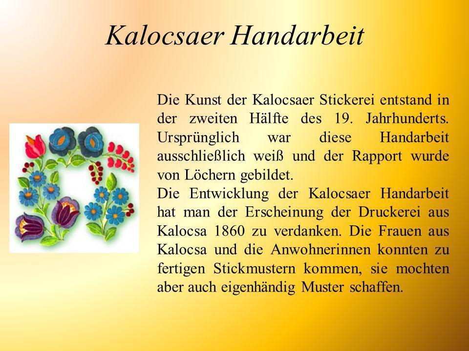 Kalocsaer Handarbeit