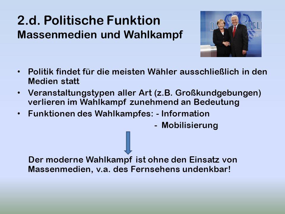 2.d. Politische Funktion Massenmedien und Wahlkampf