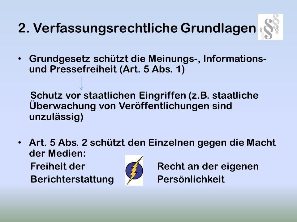 2. Verfassungsrechtliche Grundlagen