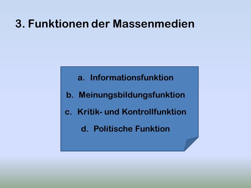 3. Funktionen der Massenmedien