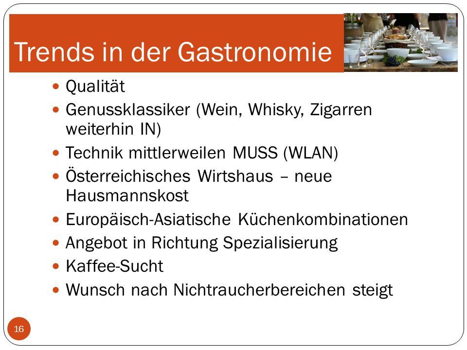 Trends in der Gastronomie