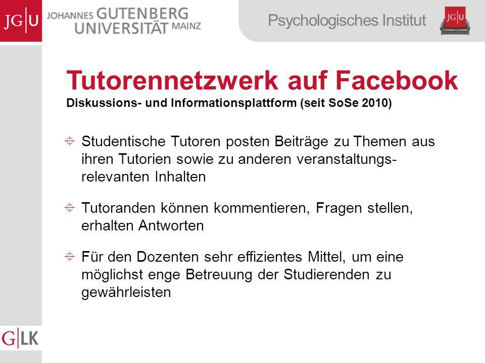 Tutorennetzwerk auf Facebook