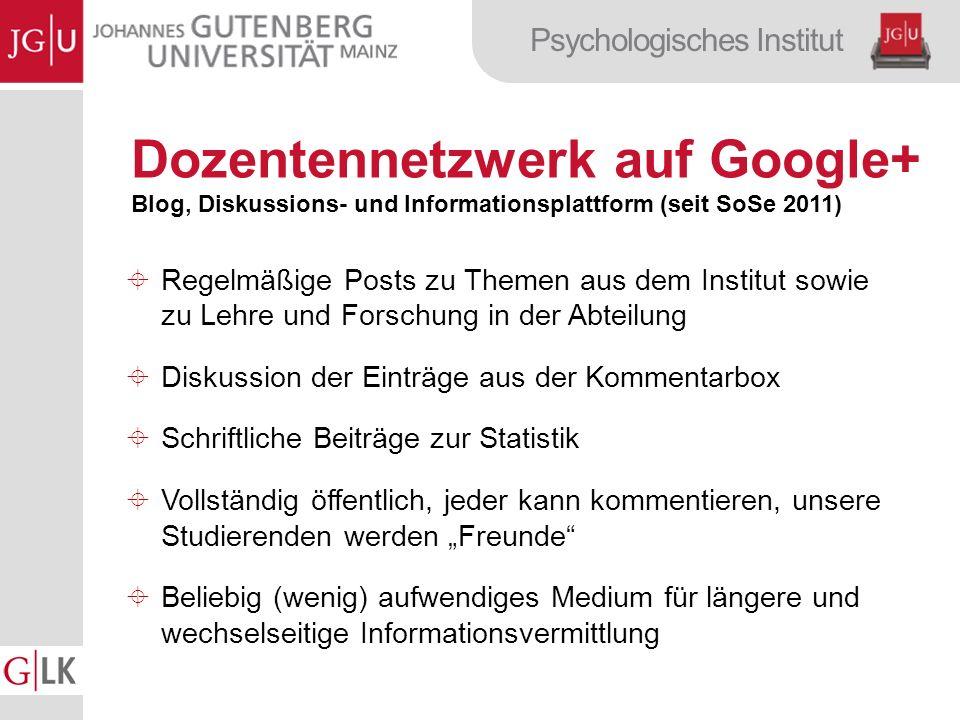 Dozentennetzwerk auf Google+