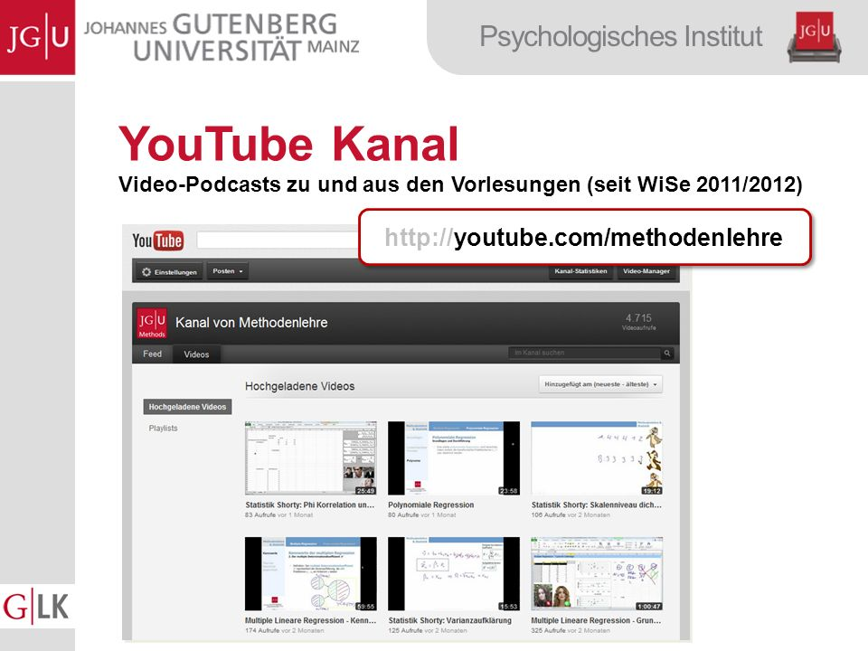 YouTube Kanal http://youtube.com/methodenlehre