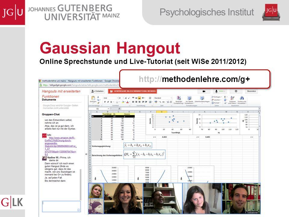 Gaussian Hangout http://methodenlehre.com/g+