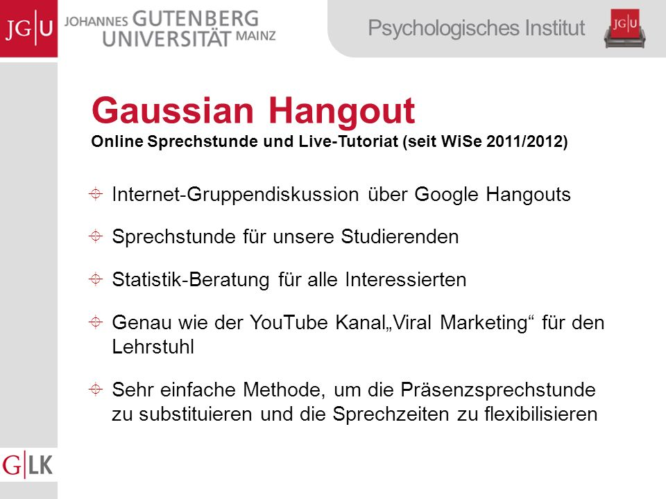 Gaussian Hangout Internet-Gruppendiskussion über Google Hangouts