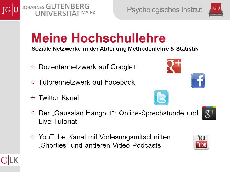 Meine Hochschullehre Dozentennetzwerk auf Google+