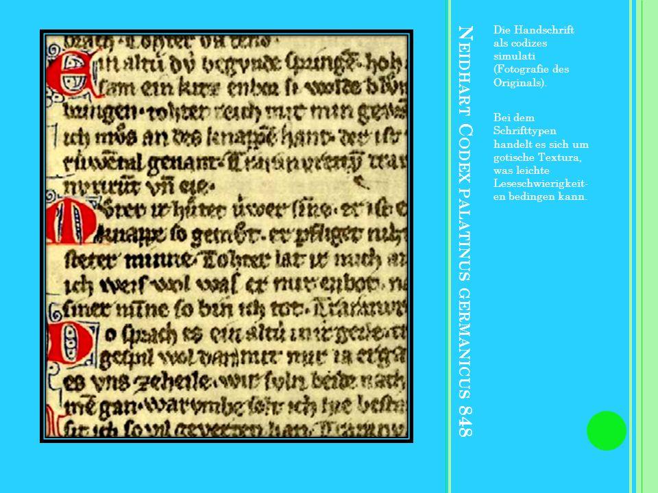 Neidhart Codex palatinus germanicus 848